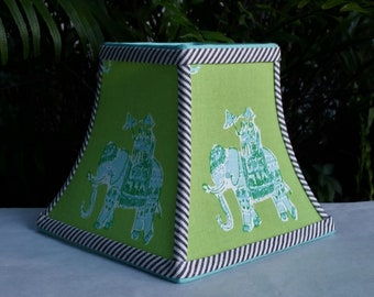 Blue Green Lilly Pulitzer Fabric Lamp Shade