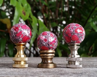 Small Hot Pink Lamp Finial