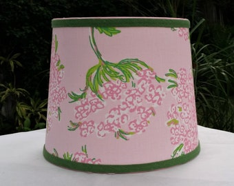 Pink Floral Lampshade, Lilly Pulitzer Fabric, Table Lamp Shade