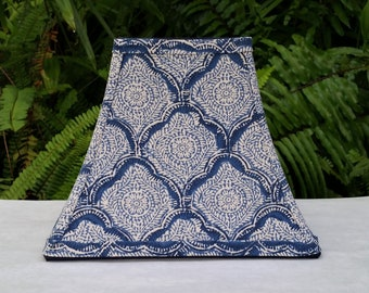 Indigo Lamp Shade,Block Print, Kravet Fabric