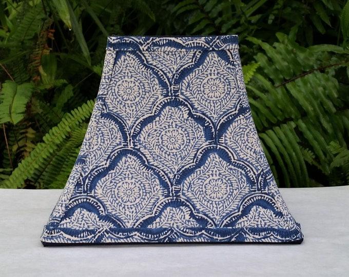 Featured listing image: Indigo Lamp Shade,Block Print, Kravet Fabric