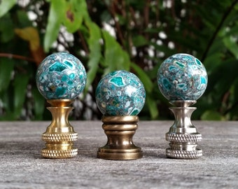 Small Turquoise Lamp Finial
