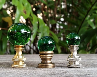 Small Green Lamp Finial
