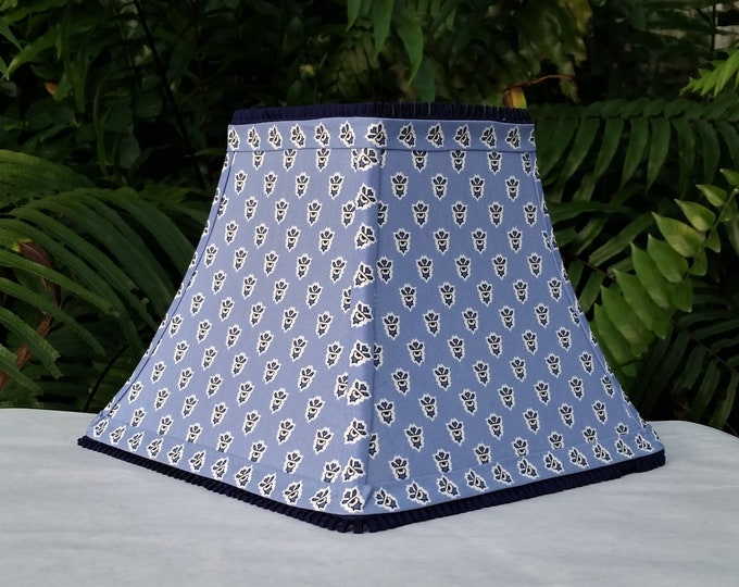 Featured listing image: Les Olivades Blue Small Print Lamp Shade Provence
