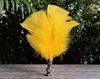 Feather Lamp Finial, Bright Yellow