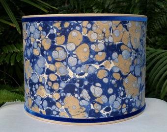 Marbleized Fabric Lampshade Velvety Cotton