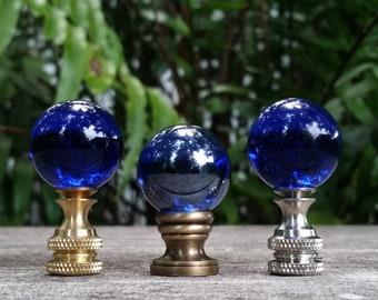 Cobalt Blue Lamp Finial