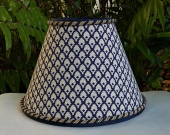 Lampshade, Navy Blue, Beige, Clip On Lamp Shade