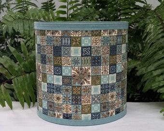 Mid Century Lampshade, Atomic Vintage Fabric Lamp Shade