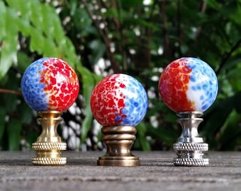Blue Red Lamp Finial