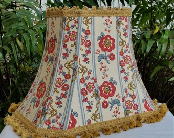 Rectangle Bell Floral Lampshade, Vintage Fabric Lamp Shade