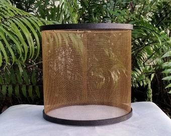 Wire Mesh Drum Lampshade, Bronze Screen