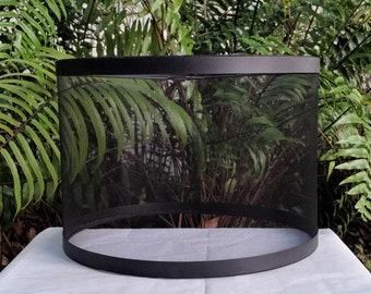 Phenolic Black Wire Mesh Lampshade, Drum Lamp Shade, Lamp Shade