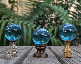 Light Teal Blue Lamp Finial