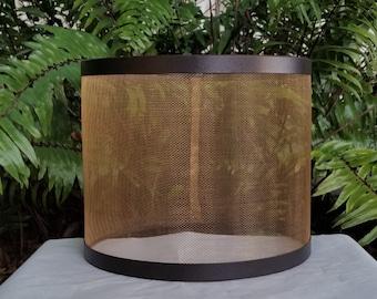 Wire Mesh Lampshade, Bronze Drum Lamp Shade