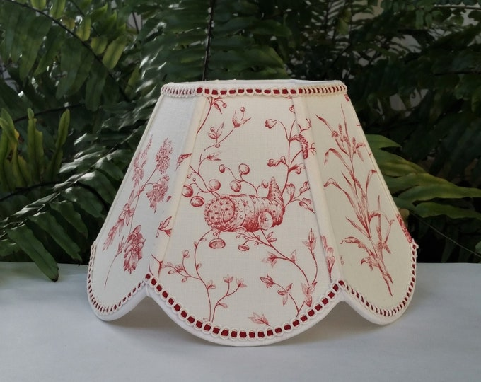 Featured listing image: Brunschwig Fils Fabric Scallop Lamp Shade