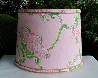 Pink Floral Lampshade, Large, Lilly Pulitzer Fabric