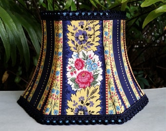 Vera Bradley Fabric Lamp Shade, Blue Floral