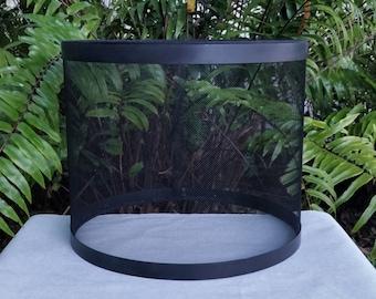 Wire Mesh Lampshade, Black, Metal Drum Lamp Shade