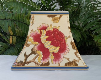 Floral Lampshade, Linen Square Bell Lamp Shade