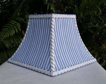 Blue Lampshade, Square Bell Lamp Shade