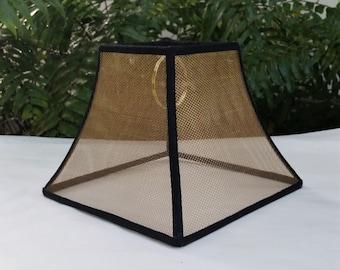 Mesh Lampshade, Bronze Screen Custom Lamp Shade