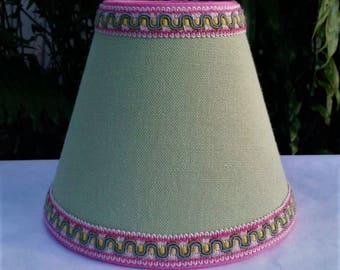 Small Green Lampshade, Clip On Lamp Shade