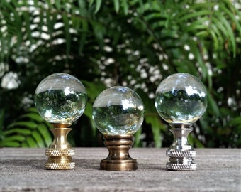 Transparent Lamp Finial, Glass