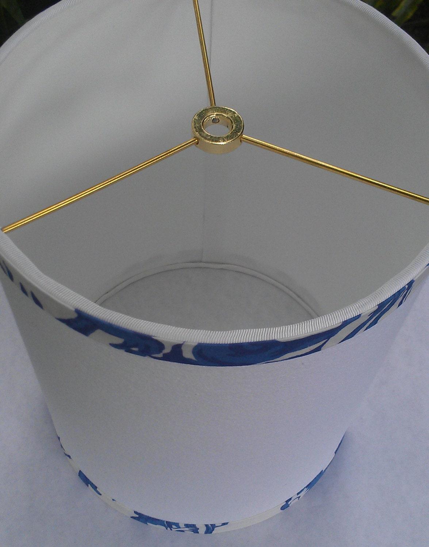 White Drum Lampshade Cobalt Blue Lamp Shade