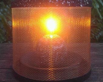 Wire Mesh Candle Holder, Luminary, Glitter Trim
