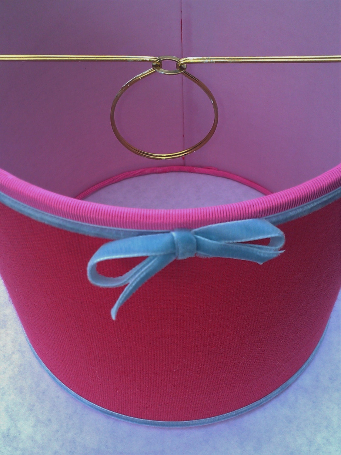 Hot Pink Drum Lampshade Clip On Lamp Shade