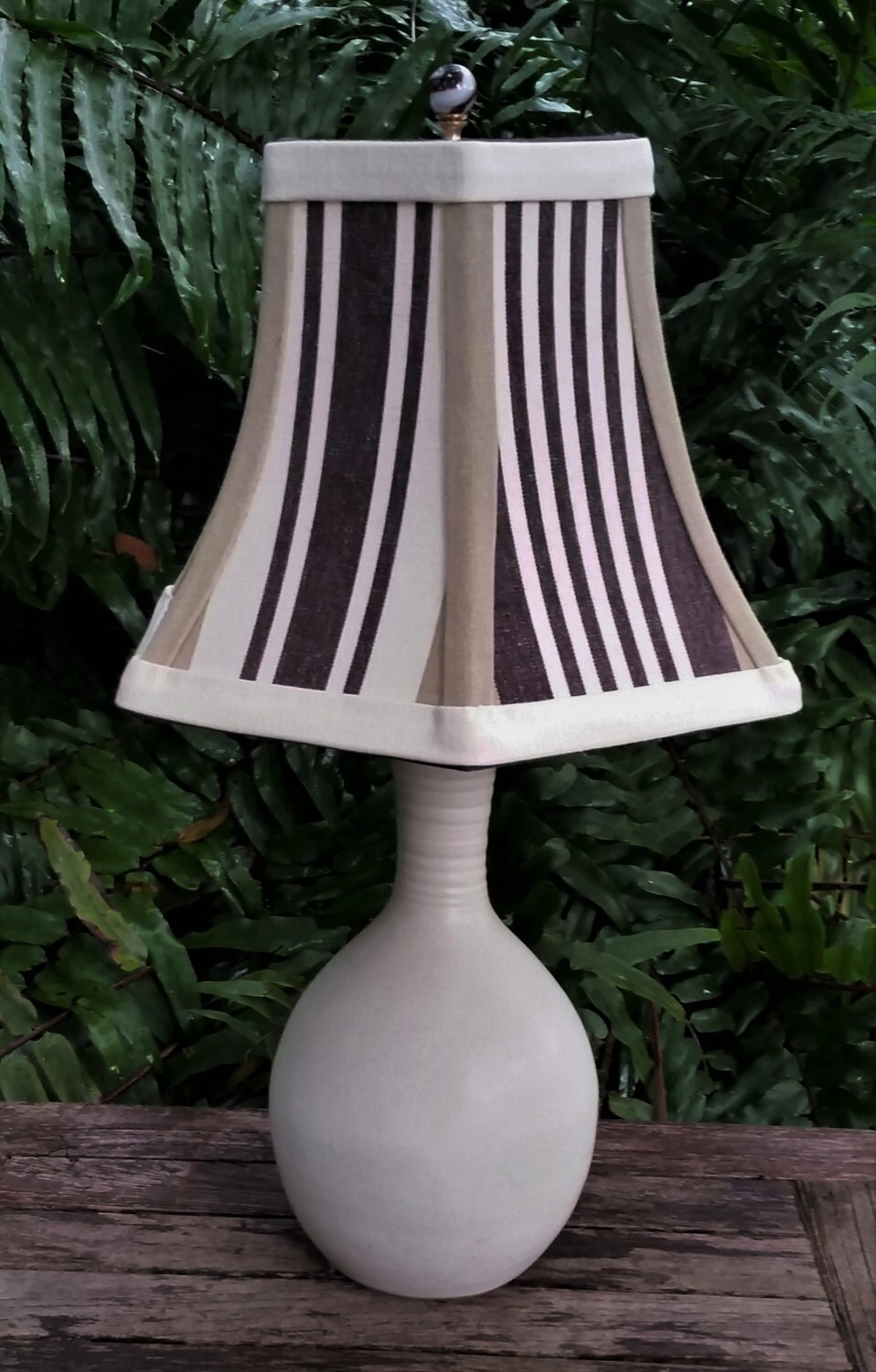 Preppy Brown Hex Bell Lampshade Lamp Shade