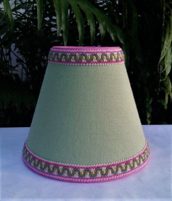 Small Green Lampshade Clip On Lamp Shade