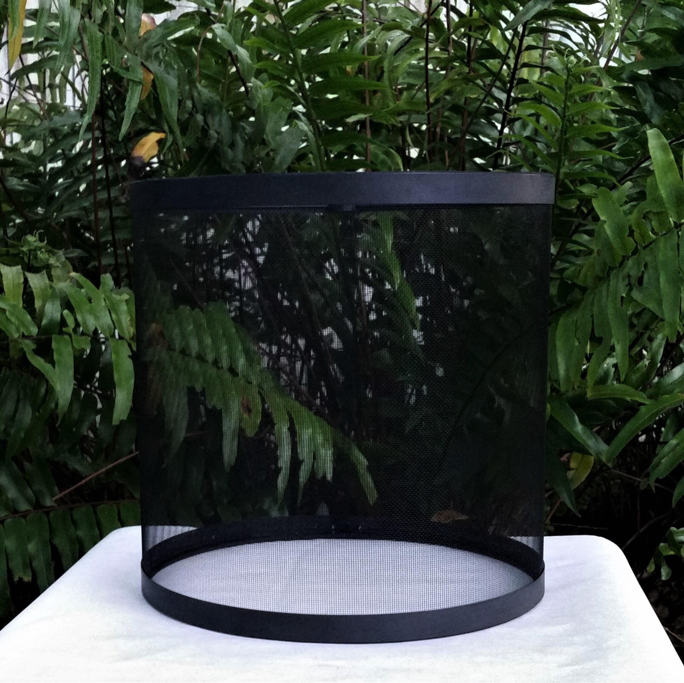 Black Wire Mesh Lampshade Drum Lamp Shade