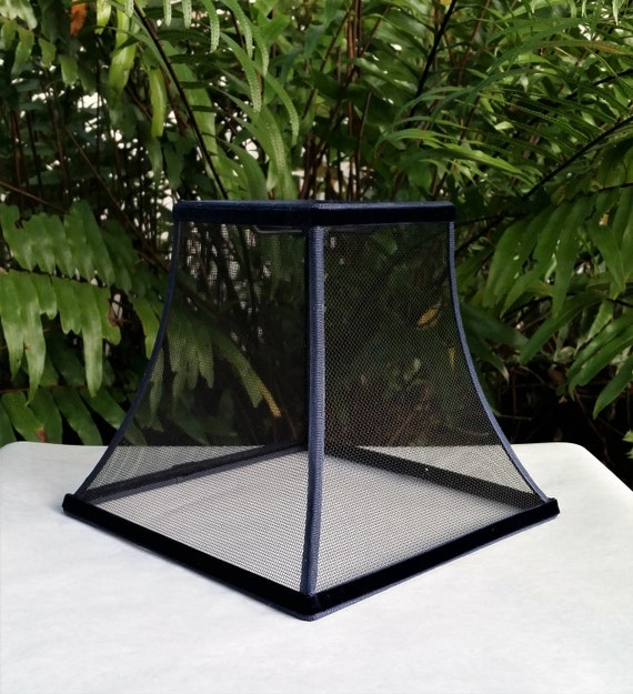 Wire Mesh Lampshade Black Blue Trim, Wire Mesh Lamp Shade