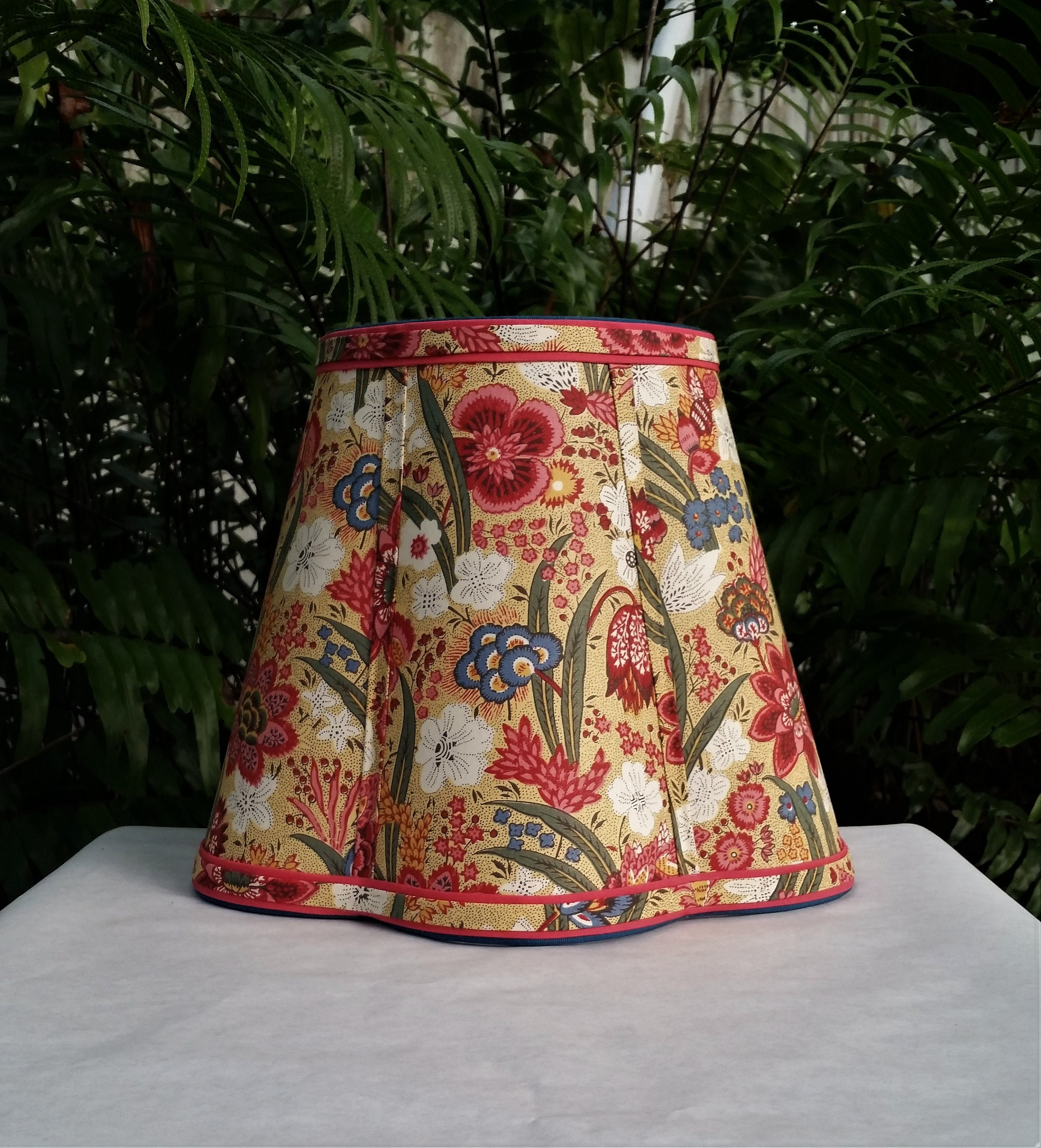 Floral Lampshade Custom Teal Pink Red Lamp Shade