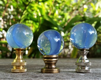 Blue Cat Eye Lamp Finial