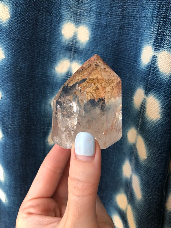 Garden Quartz included crystal tower aka Lodolite