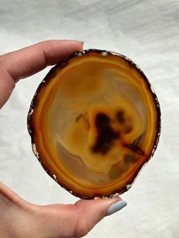Natural Agate slice coaster