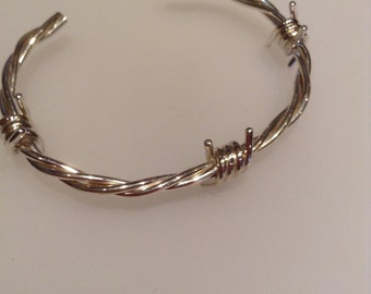 Barbed Wire Bracelet Hallmarked Solid Sterling Silver