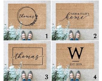 LARGE Custom Doormat, Last Name Doormat, Housewarming Gift, Wedding Gift, Custom Doormat, Anniversary Gift, Personalized Doormat, Door Mat