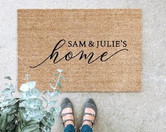 LARGE Custom Doormat, Couple's Doormat, Housewarming Gift, Wedding Gift, Gift for couples, Anniversary Gift, Personalized Doormat, Door Mat