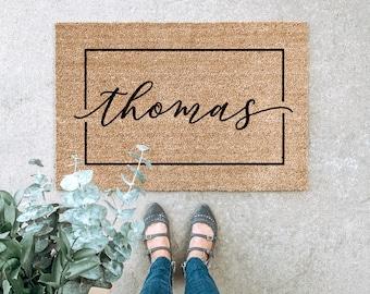 LARGE Custom Doormat, Last Name Doormat, Housewarming Gift, Wedding Gift, Gift for couples, Anniversary Gift, Personalized Doormat, Door Mat