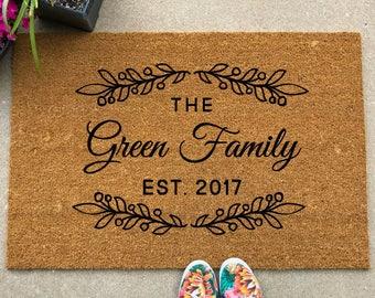 Welcome Mat   Custom Doormat   Customized Doormat   Custom Welcome Mat    Housewarming Gift   Closing Gift   Personalized Welcome Mat