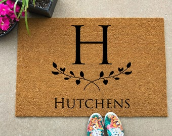 Custom Doormat, Newlywed Gift, Housewarming Present, Realtor Closing Gift, Personalized  Doormat