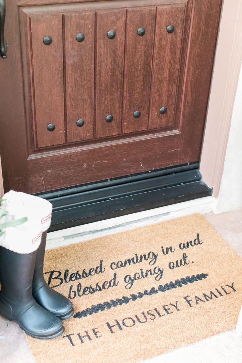 Custom Door Mat Personalized Doormat Door Mat Doormat Door image 0