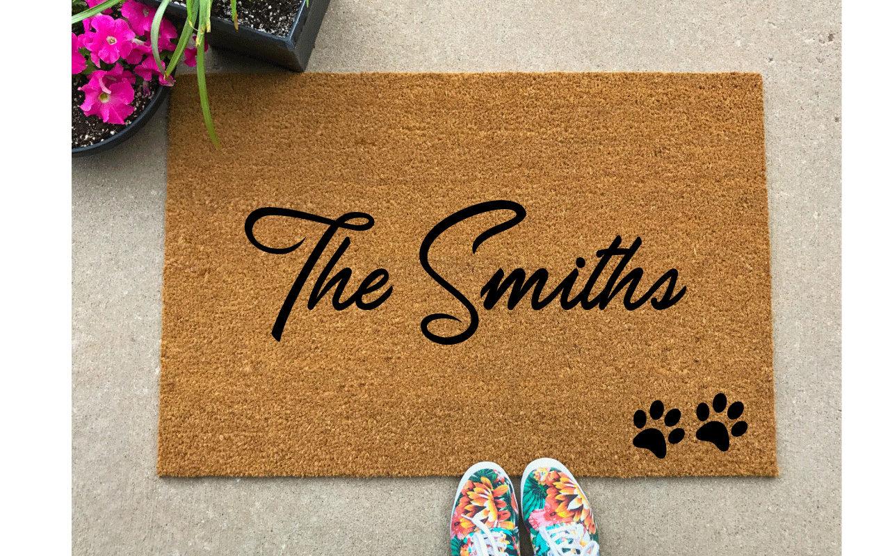 Custom Door Mat Personalized Doormat Outdoor Welcome Mat