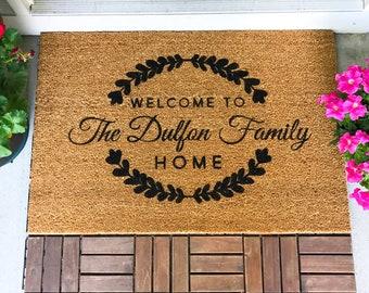 LARGE Custom Doormat, Closing Gift, Housewarming Gift, Wedding Gift, Custom Doormat, Anniversary Gift, Personalized Doormat, Door Mat