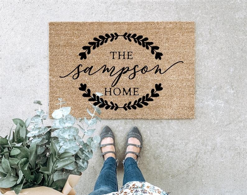 LARGE Custom Doormat Closing Gift Housewarming Gift Wedding Style 1