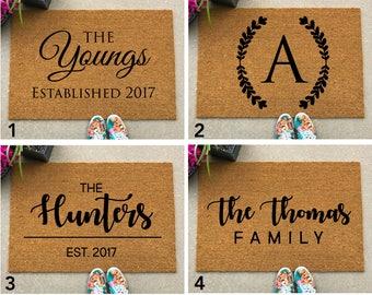 Custom Welcome Mat - Personalize Door Mat - Custom Doormat - Customized Doormat, Housewarming Gift, newlywed gift, closing gift, family gift